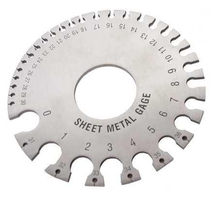 Heck Industries 3, SHeet Metal Thickness Gauge, Steel, WFSG by HECK INDUSTRIES