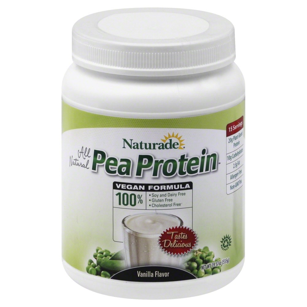 Naturade Vegan Pea Protein, Vanilla, 20g Protein, 1.2 Lb