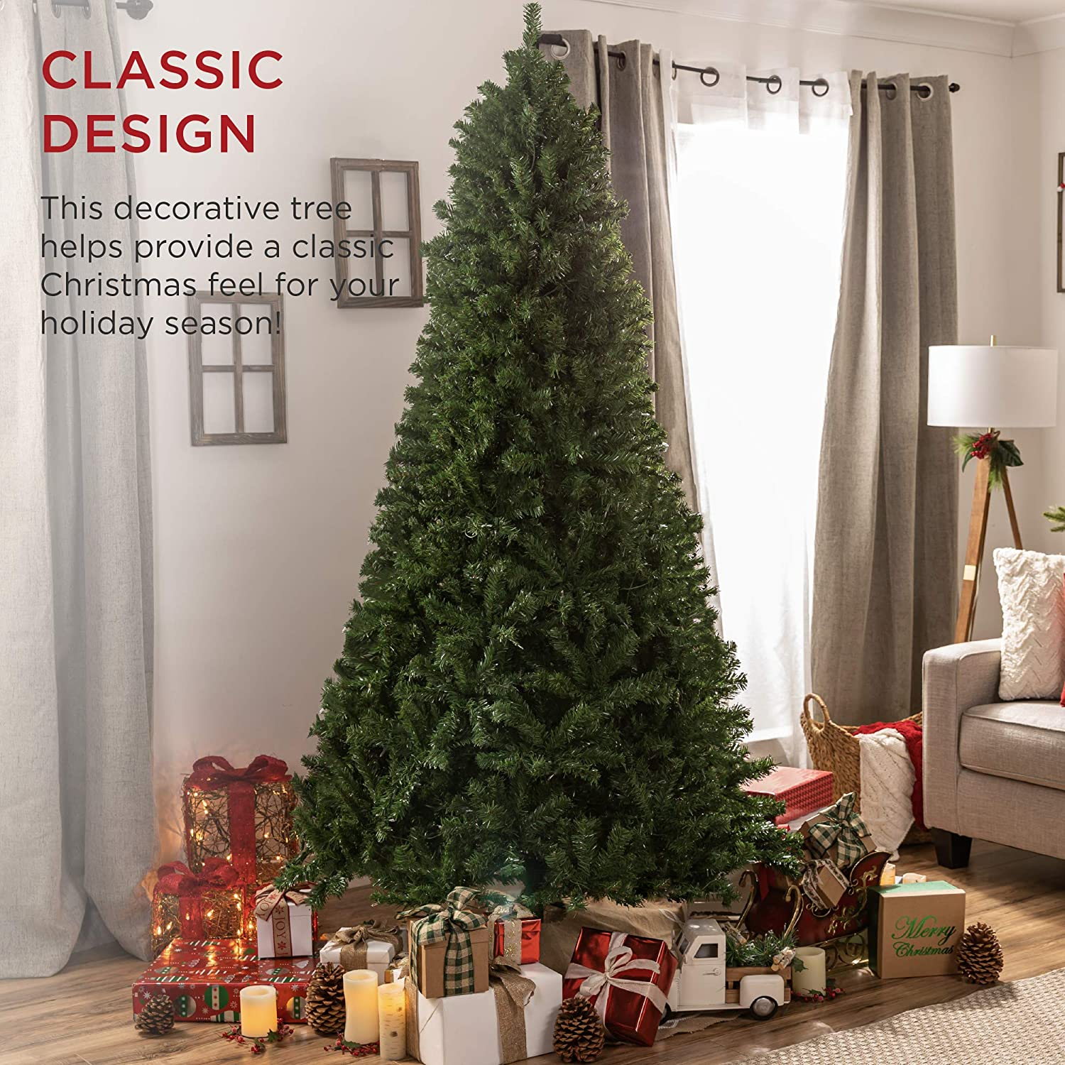 Best Choice Products 7 5ft Premium Spruce Artificial Holiday Christmas Tree For Home Office Party Decoration W 1 346 Branch Tips Easy Assembly Metal Hinges Foldable Base Walmart Com Walmart Com