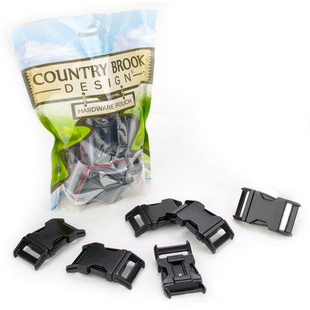 Midi Coated Buckle - Country Brook Design®  1 Inch Black Powder Coated Contoured Buckle