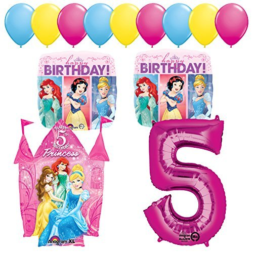 Princess Party 5th Birthday Party Supplies and Balloon Decorations
