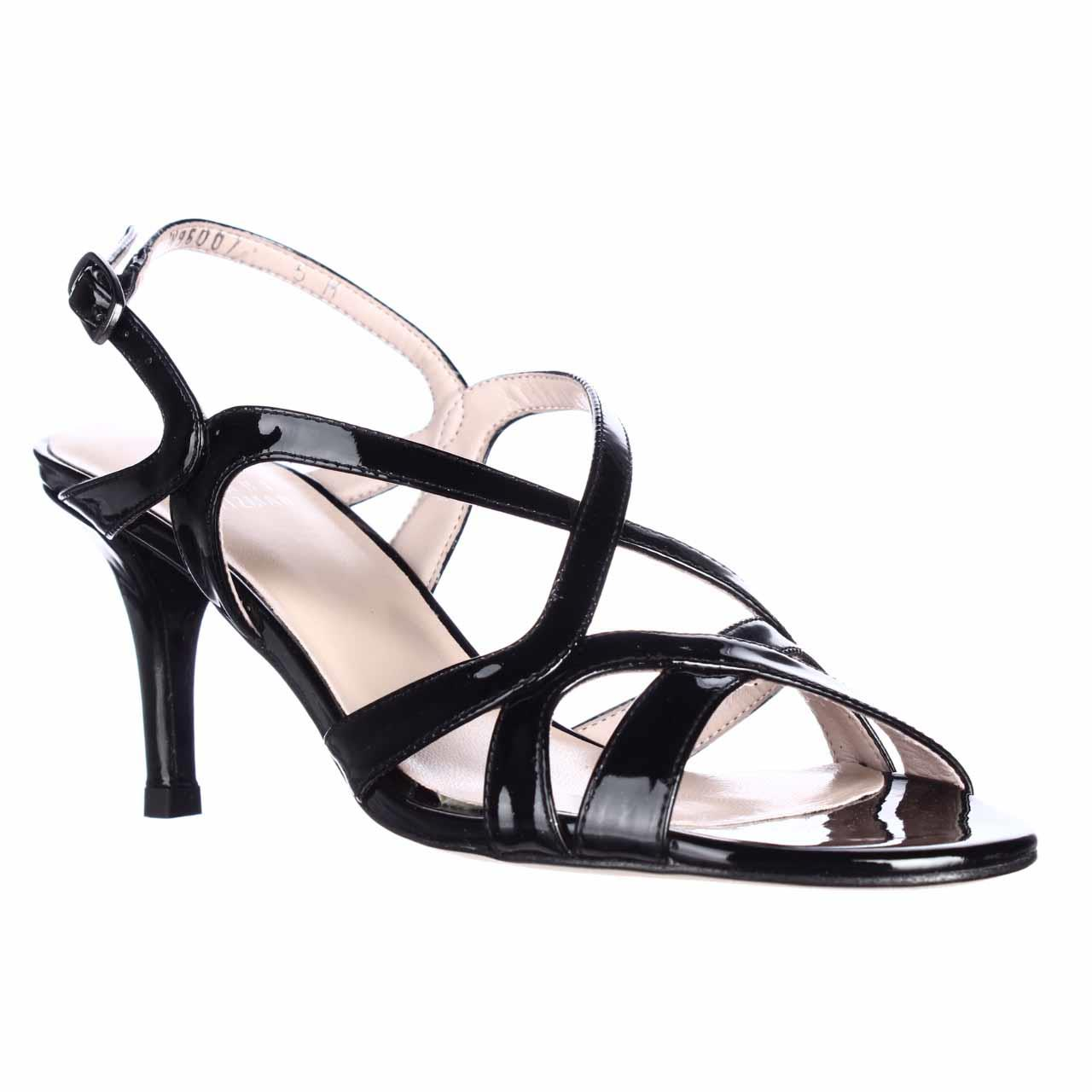 Womens Stuart Weitzman Axis Strappy Evening Dress Sandals - Black