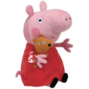 "Peppa Pig Beanie Medium - Stuffed Animal by Ty 10"" (96230)"