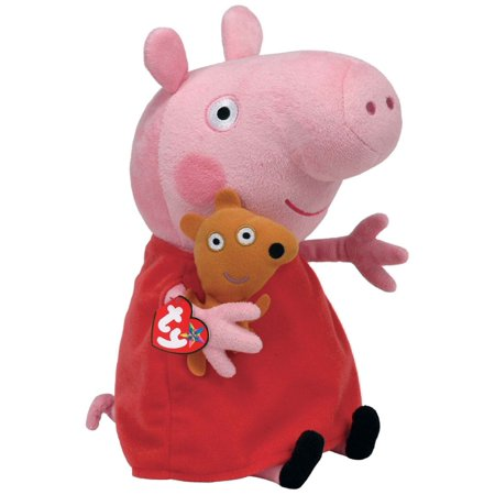 Peppa Pig Beanie Medium - Stuffed Animal by Ty (96230) - Stuffed Animal Pigs