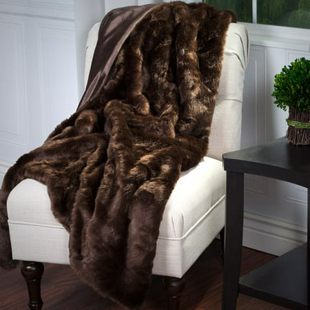 Somerset Home Luxury Long Haired Faux Fur Throw Walmart Com