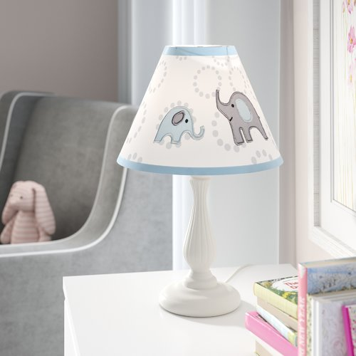 Harriet Bee Elephant 10'' Linen Bell Lamp Shade