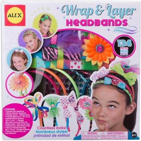 ALEX Toys DIY Wear Wrap and Layer Headbands - Diy Christmas Crafts For Kids