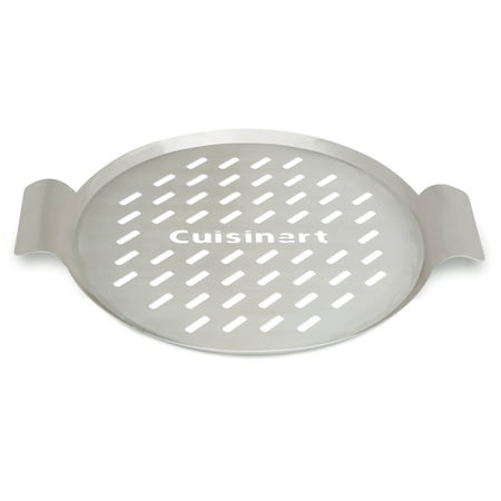 "Cuisinart® 13"" Round Grill Topper - Great for Pizzas, Seafood and Vegetables, Perforated Surface Enhances Natural Flavors"
