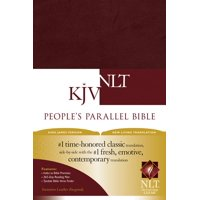 People's Parallel Bible KJV/NLT (Imitation Leather, Burgundy/maroon)