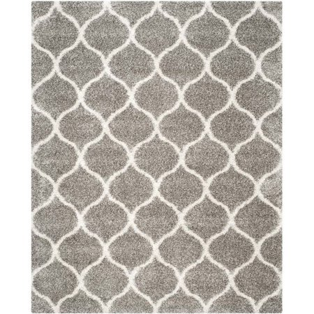 Power Loomed Area Rug in Gray and Ivory (12 ft. L x 9 ft. W)