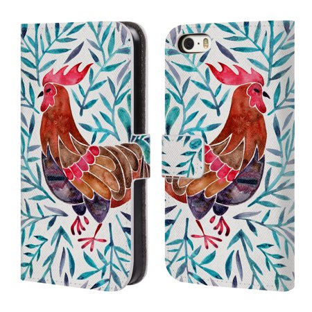 OFFICIAL CAT COQUILLETTE BIRDS 2 LEATHER BOOK WALLET CASE COVER FOR APPLE IPHONE PHONES
