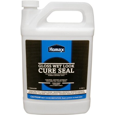 Products Concrete Cure Seal  1 Gal   Apply To Old Or New Concrete  Brick  Exposed Aggregate  Terrazzo  Flagstone  Quarry Tile  Etc      By Homax Ship From Us