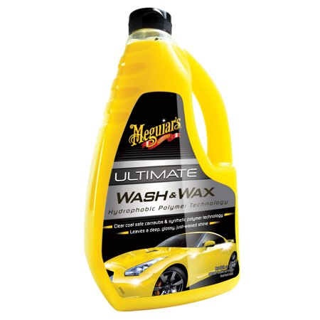 Meguiar's G17748 Ultimate Wash & Wax, 48 oz (Car Soap)