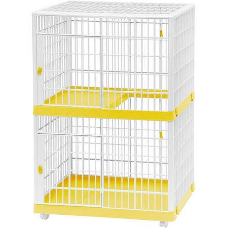 Iris 2 Tier Cat Cage Tan Walmartcom