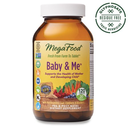 MegaFood - Baby & Me, Prenatal and Postnatal Supplement to Support Healthy Pregnancy, Development, Bones, and Red Blood Cell Levels for Mother and Child, Vegetarian, Gluten-Free, Non-GMO, 120 (Megafood Baby And Me Prenatal California Blend)