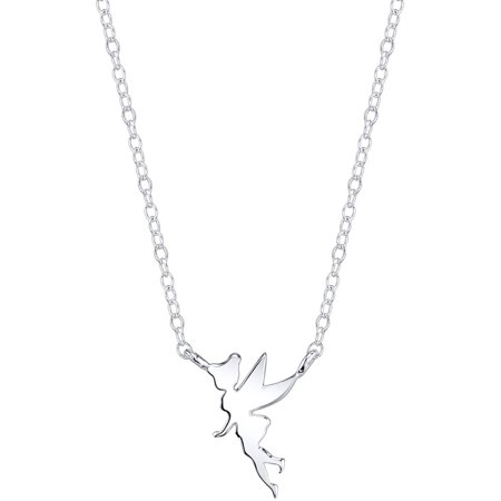 Disney Tinkerbell Jewelry - Disney Tinkerbell Women's Sterling Silver Station Necklace