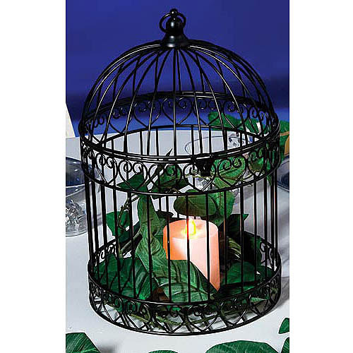 Bird Cage Centerpiece, Black