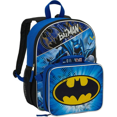 6eb8a92dcb DC Comics - DC Comics Batman Backpack w  Detachable Lunch Bag - Walmart.com