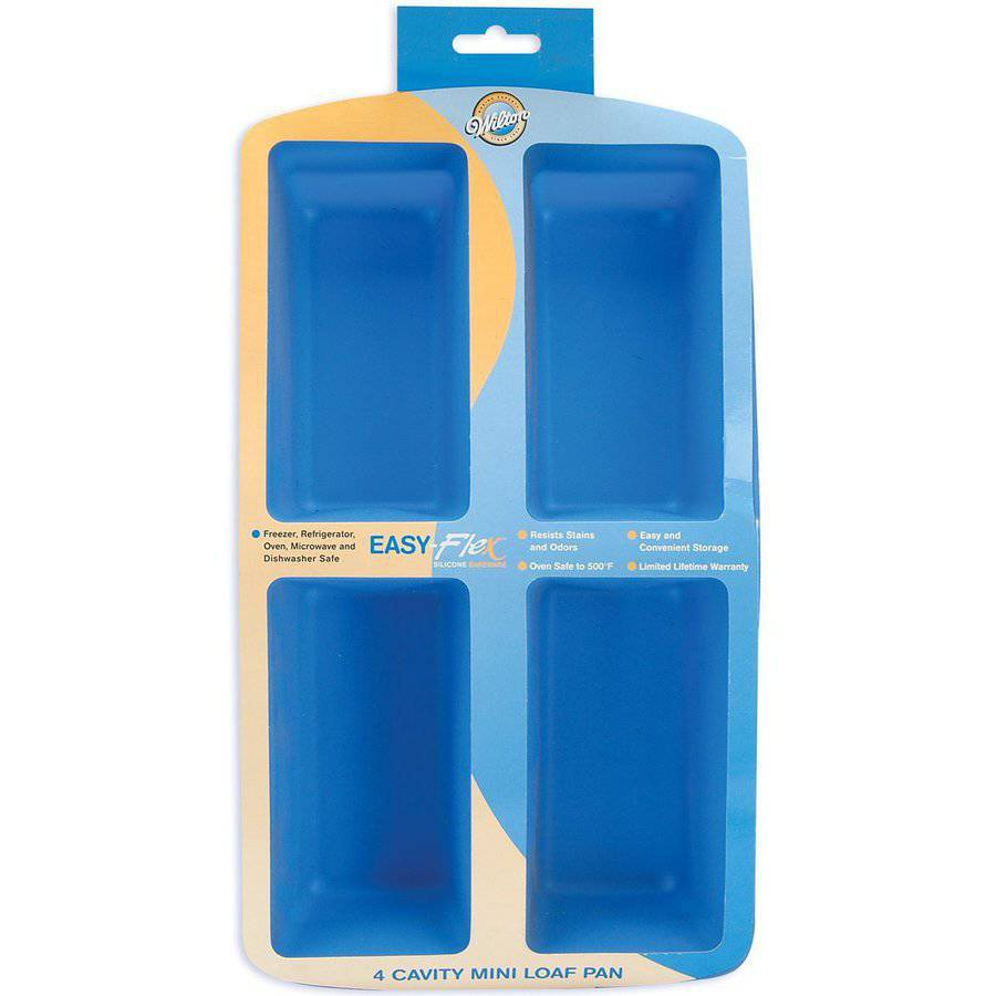 Wilton Easy Flex 4-Cavity Mini Silicone Loaf Pan 2105-4826