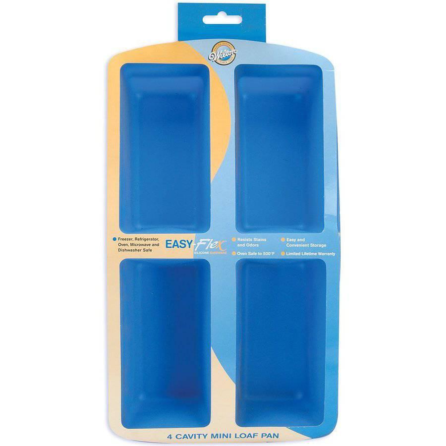 Wilton Easy Flex 4-Cavity Mini Silicone Loaf Pan 2105-4826