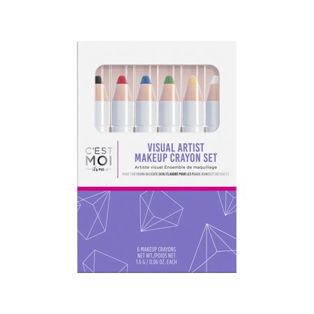 C'est Moi Visual Artist 6 Piece Makeup Crayon Set