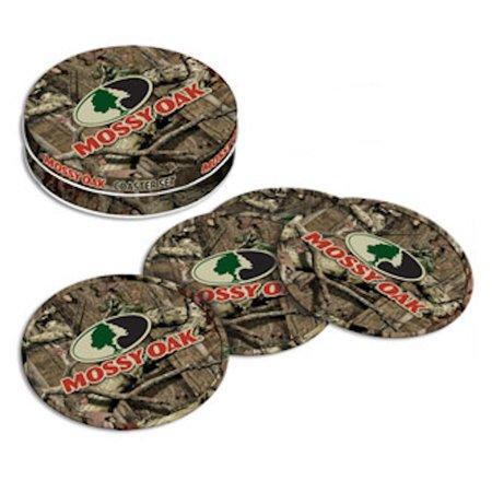 Oak Coaster - Mossy Oak Camouflage Tin Coaster Set of Four with Natural Cork Bottoms MO-68507