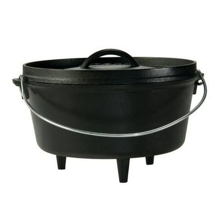 Lodge Logic 5-Quart Cast Iron Deep Camp Dutch Oven, L10Dco3