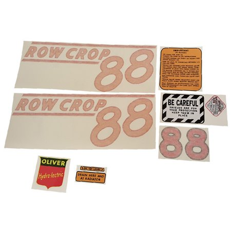 Tractor Decal Set - Complete Tractor Decal Set 5715-1010 for Oliver 88