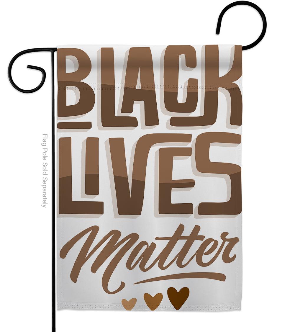 Black Lives Matter Flag Love Blm Inspirational Support Impressions Decorative Vertical 13 X 18 5 Double Sided Garden Flag Walmart Com Walmart Com