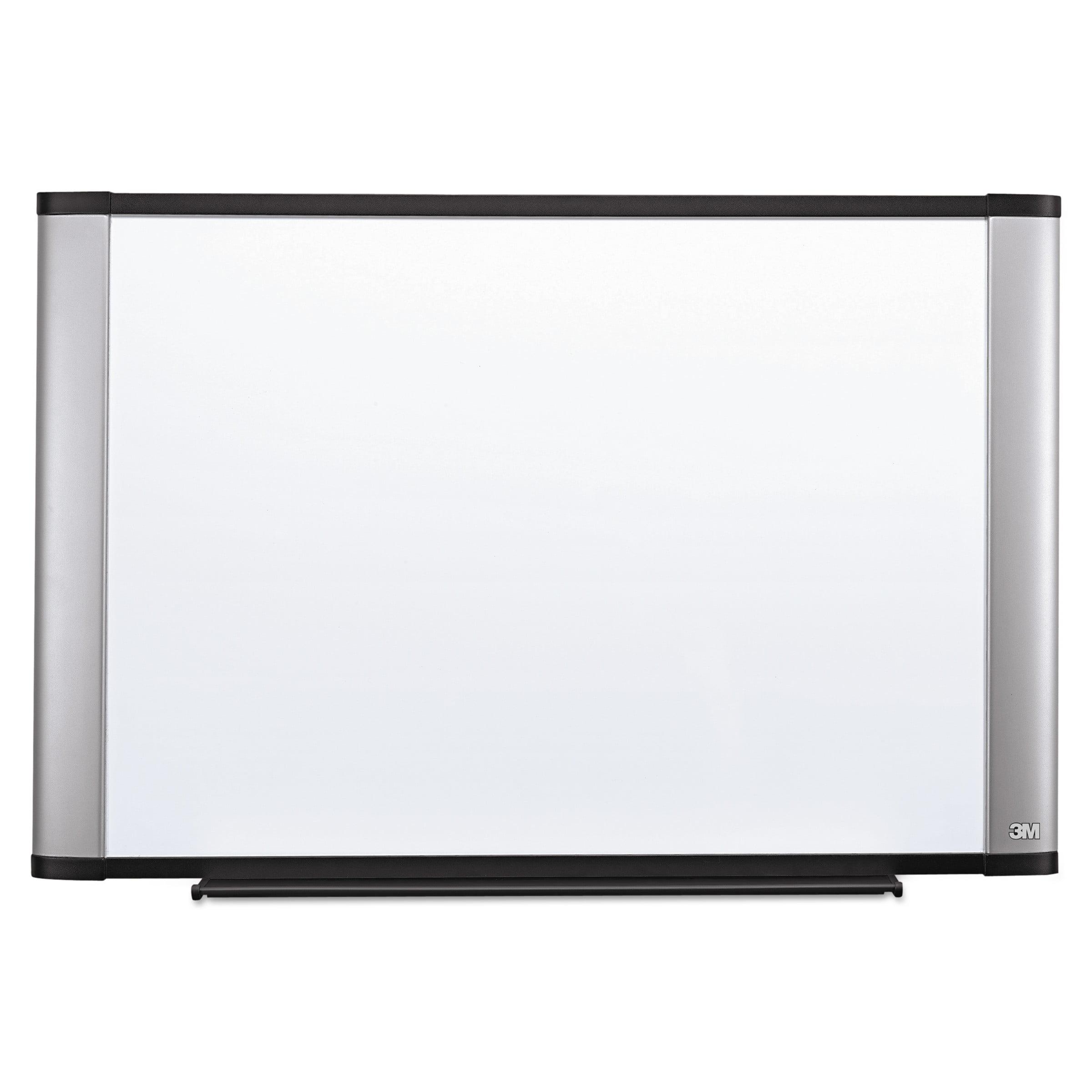 3M Melamine Dry Erase Board, 48 x 36, Aluminum Frame by 3M/COMMERCIAL TAPE DIV.