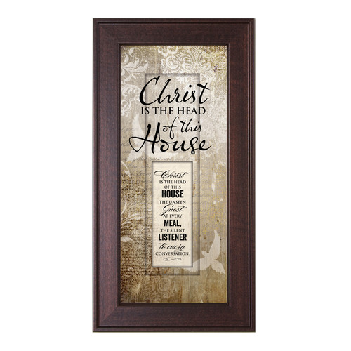 The James Lawrence Company Christ is the Head of this House Framed Graphic Art