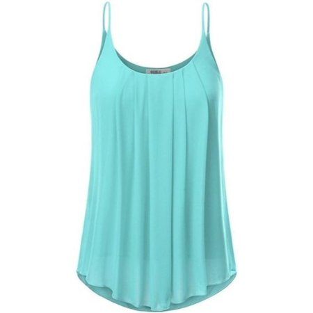 Summer All Match Solid Color Camisole Sleeveless Shirt