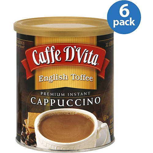 Caffe D'Vita English Tof fee Premium Instant Cappuccino Mix, 16 oz, (Pack of 6)