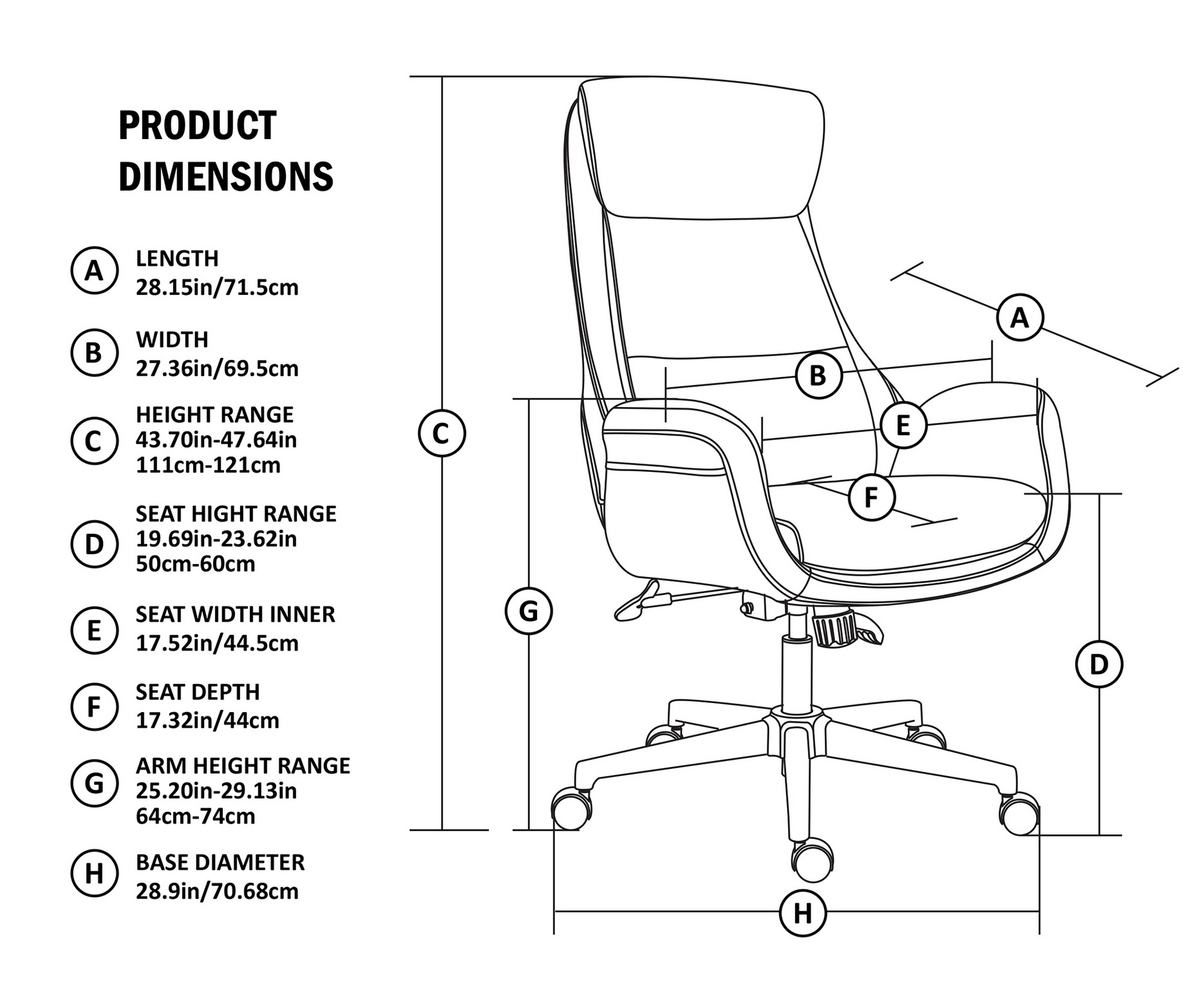 Office Products Camel Chairs Sofas Glitzhome Adjustable