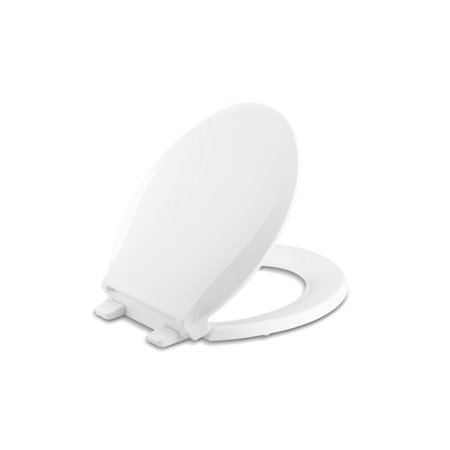 Kohler Cachet Quiet-Close™ with Grip-Tight Round-Front Toilet Seat, White