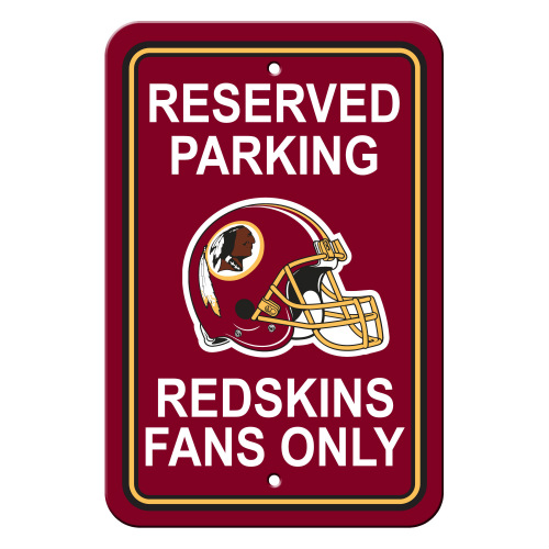 FREMONT DIE Inc Washington Redskins Plastic Parking Sign - Reserved Parking Plastic Parking Sign - Reserved Parking