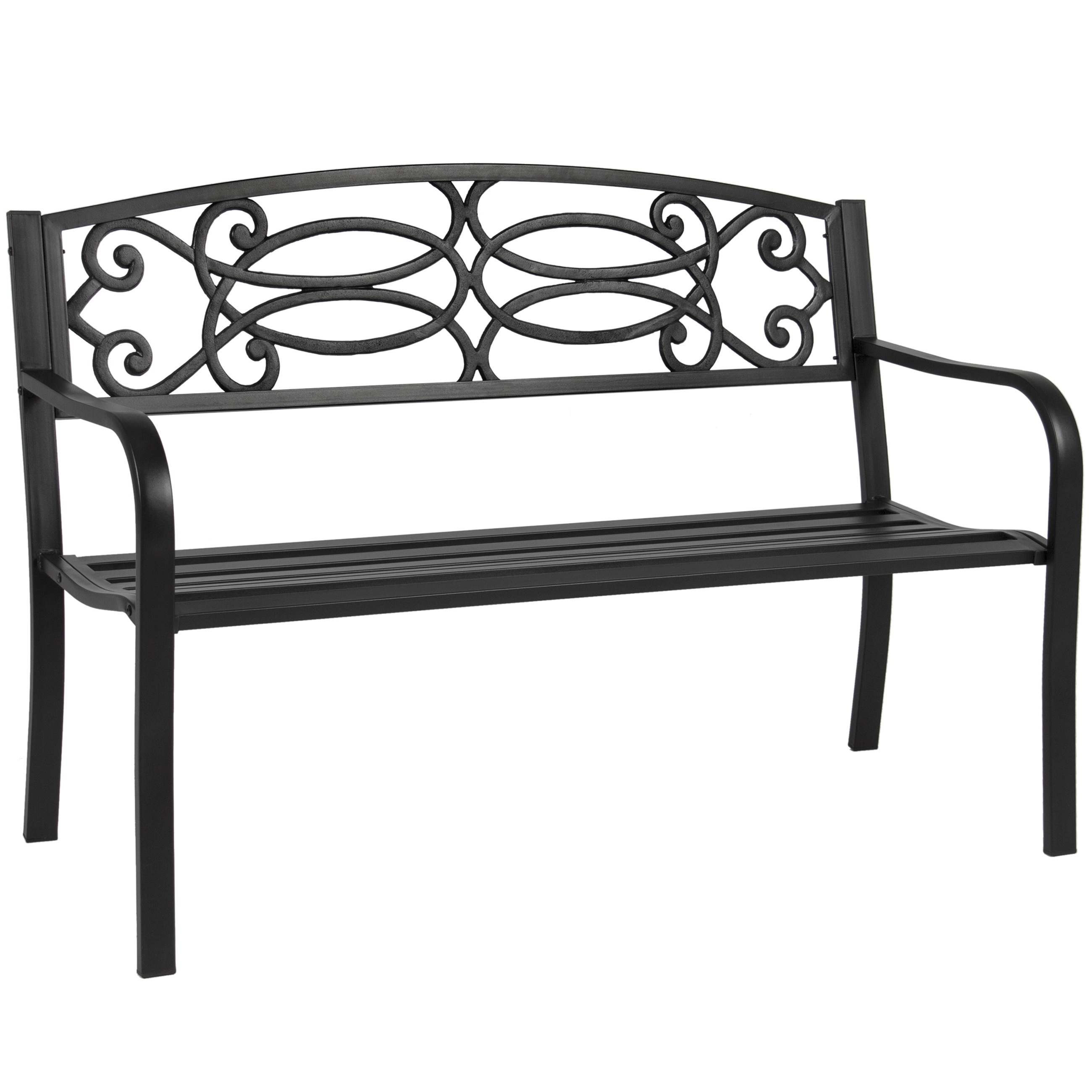 "Best Choice Products BCP 50"" Outdoor Patio Garden Bench Steel Frame Park Yard Porch... by"