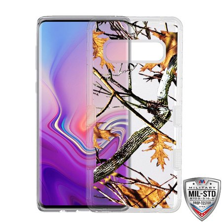 Samsung Galaxy S10 Plus /S10+ Phone Case Tuff Hybrid Shockproof Impact Rubber Bumper Cover [Impact Resistant] Protective Hard Clear Cover Natural Oak Vine Case for Samsung Galaxy S10+ S10 PLUS