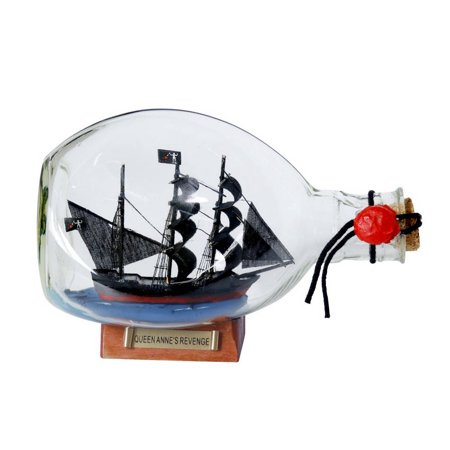 Blackbeard's Queen Anne's Revenge Pirate Ship in a Bottle 7