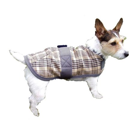 Intrepid International 26916 16 in. Fleece Lined Dog Coat - Horsemans Plaid Tan - image 1 of 1