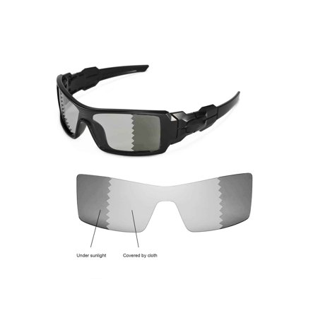 1b55d1c63b516 Walleva - Walleva Transition Photochromic Polarized Replacement Lenses for Oakley  Oil Rig Sunglasses - Walmart.com