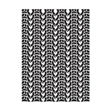 Sweater Embossing Folder: 4.25 X 5.75