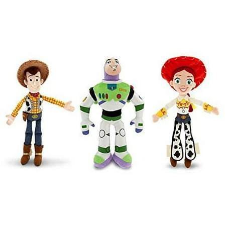 Disney Toy Story - Woody, Buzz Lightyear, and Jessie - Plush Doll Set of - Woody Lightyear