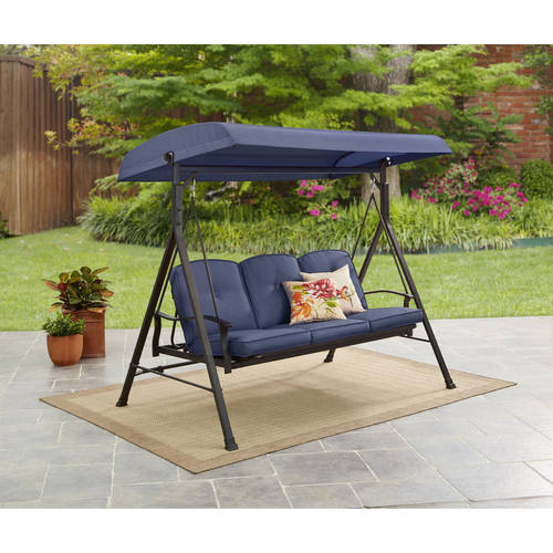 Mainstays Belden Park 3-Person Porch Swing by Courtyard Creations Inc