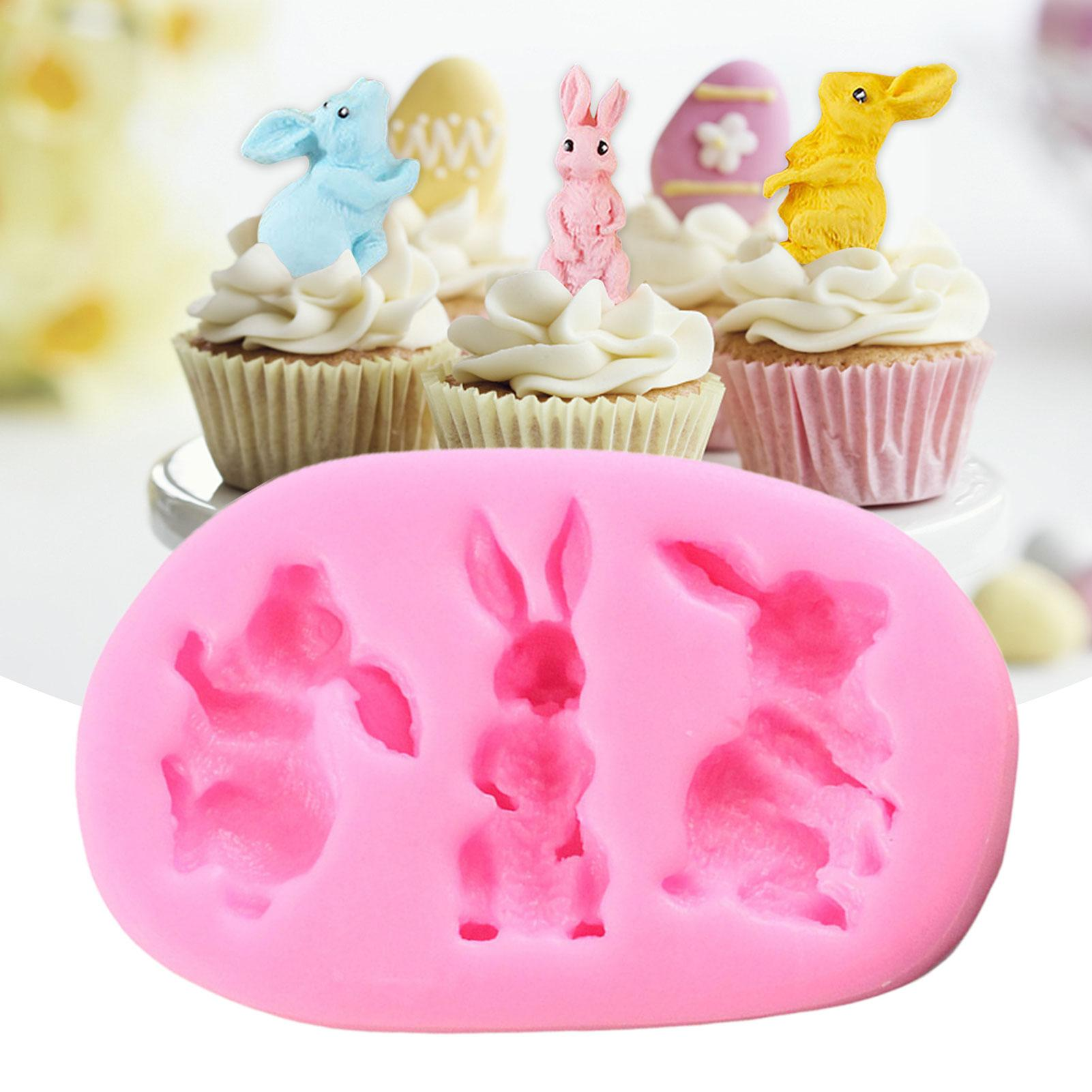 Details about  /Easter bunny with dress and 2 baby bunnies lollipop chocolate candy molds