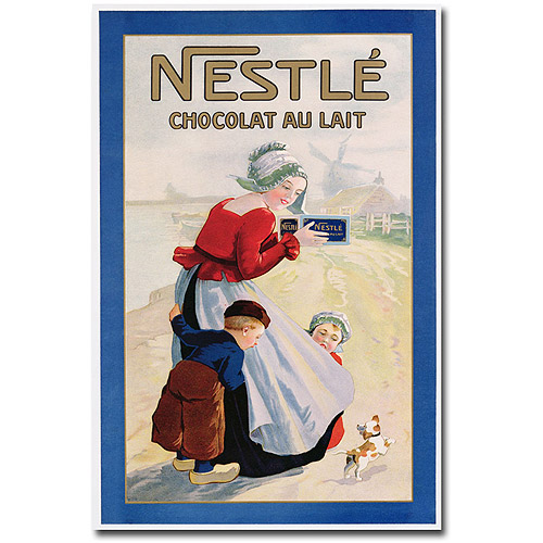 "Trademark Art ""Nestle Cocolate au Lait"" Canvas Wall Art"