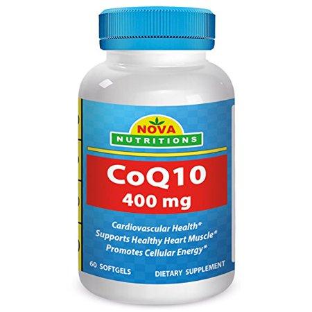 Nova Nutritions Coq10 400 Mg 60 Softgels