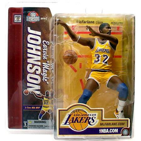 Mcfarlane Legends Series (McFarlane NBA Sports Picks Legends Series 2 Magic Johnson Action Figure [Yellow Jersey] )
