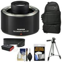 Fujifilm Fujinon XF 2x TC WR Teleconverter with Backpack Case + Tripod + Strap + Kit