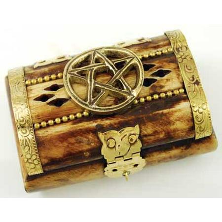 Decorative Boxes Trinket Treasures Incense Bone Miniature Chest Pentagram (Pentagram Trinket)